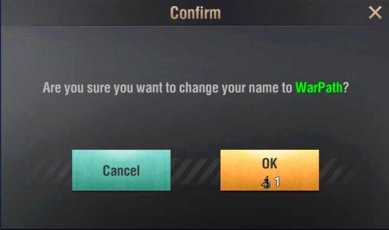 change name color warpath screenshot 4